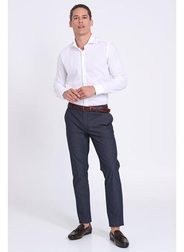 Lufian Slim Fit Uzun Kollu Klasik Gömlek Beyaz